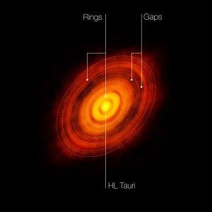 ALMA Aufnahme von HL Tauri  (C)ESO